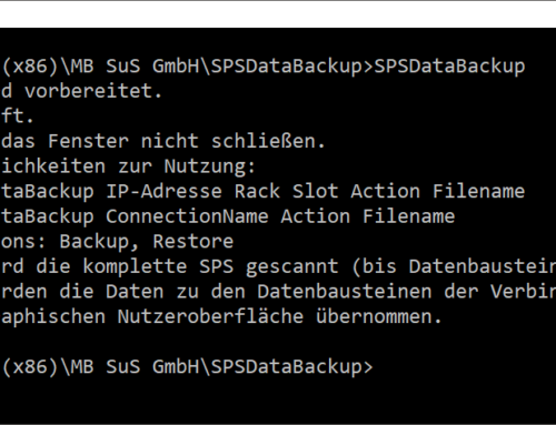 PLCDataBackup – Operation via command prompt